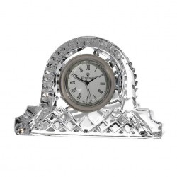Cottage Clock 12cm Lismore Collection By Waterford Crystal