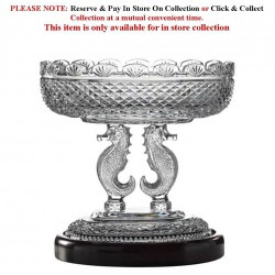 Oval Bowl Bowl Seahorse Collection By Waterford Crystal