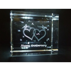 Happy Anniversary Celebration Crystal Images Laser Creation