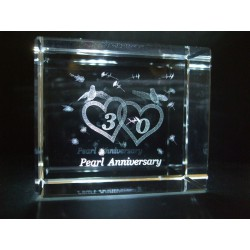 Pearl 30th Anniversary Celebration Crystal Images Laser Creation