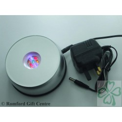 7 LED Round Rotating or Static Light Base For Laser Creations