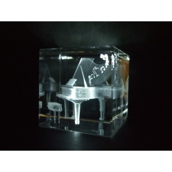 Piano Music Instrument Crystal Images Laser Creation