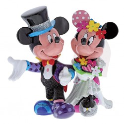 Mickey Mouse & Minnie Mouse Wedding Figurine By Romero Britto
