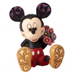 Mickey Mouse with Flowers Mini Figurine Disney Traditions
