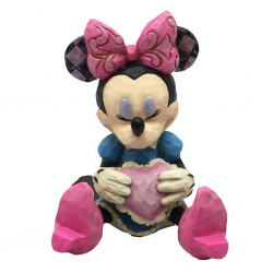Minnie Mouse with Heart Mini Figurine Disney Traditions