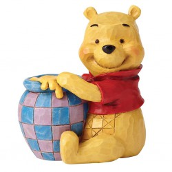 Winnie the Pooh with Honey Pot Mini Figurine Disney Traditions