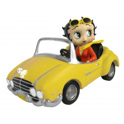 Betty Boop In Yellow Sports Car W 30cm