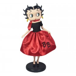 Betty Boop In 50's Costume With Fabric Clothes H 30.5cm