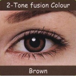 2 Tone Brown Colour Contact Lens 1 Pair