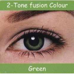 2 Tone Green Colour Contact Lens 1 Pair