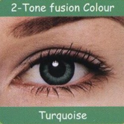 2 Tone Turquoise Colour Contact Lens 1 Pair