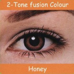 2 Tone Honey Colour Contact Lens 1 Pair