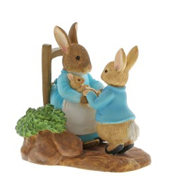At Home by the Fire with Mummy Rabbit Figurine