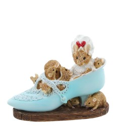 Old Woman Who Lived In a Shoe Figurine